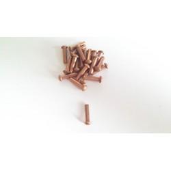 Kupfernieten 3x12mm 20 Stück