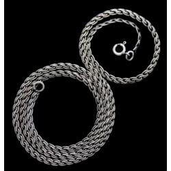 Historische Halskette Silber 45 cm