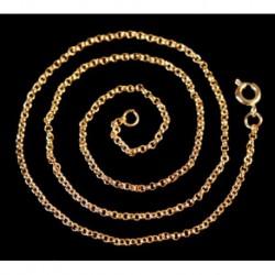 Feine Wikingerkette Svala Bronze 40 cm